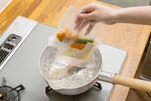 野菜の湯せんの写真