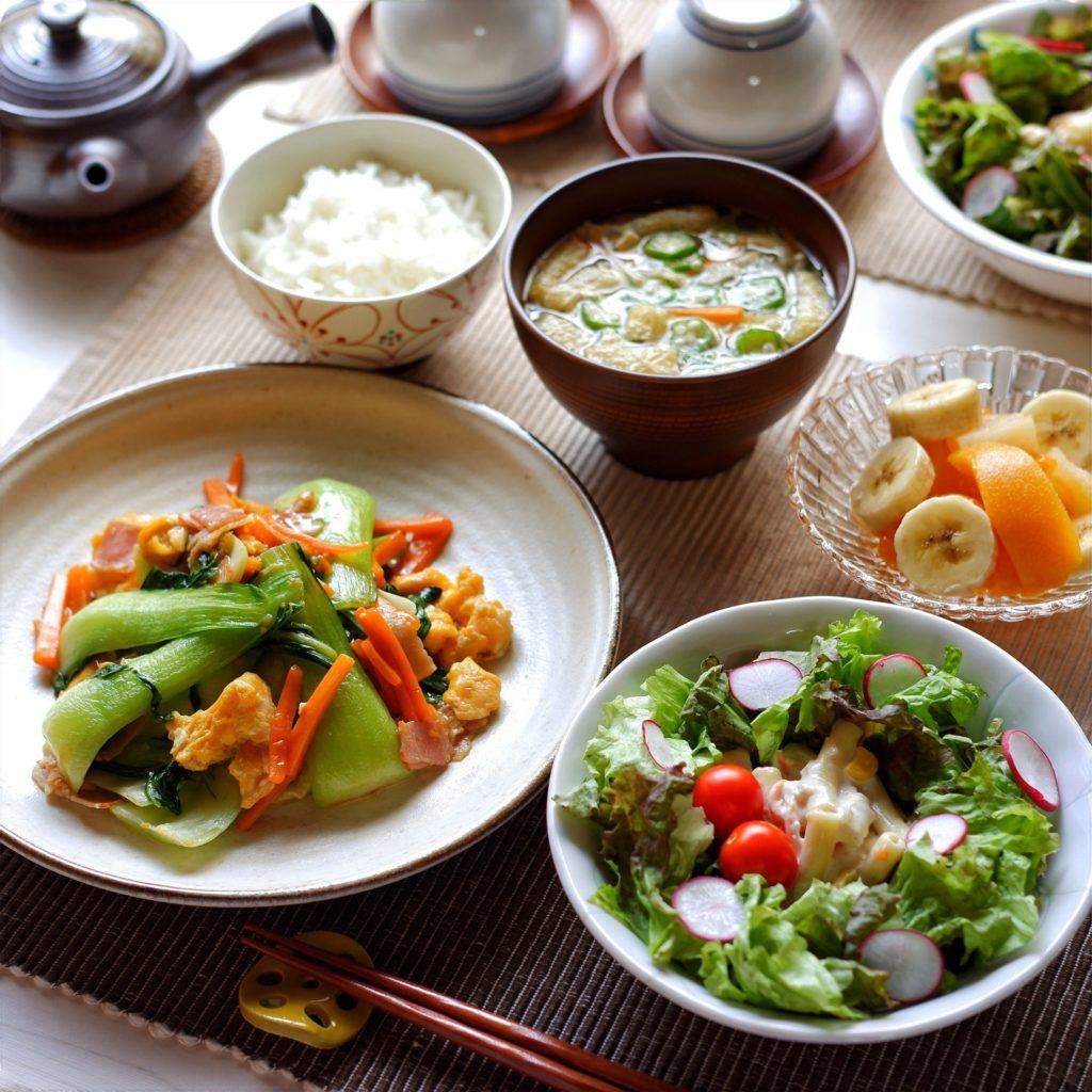 健康的でバランスの良い食事